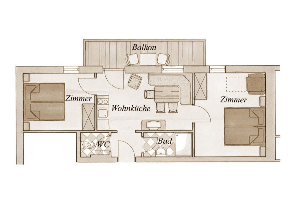 Grundriss - Familien-Studio in Großarl, Salzburger Land