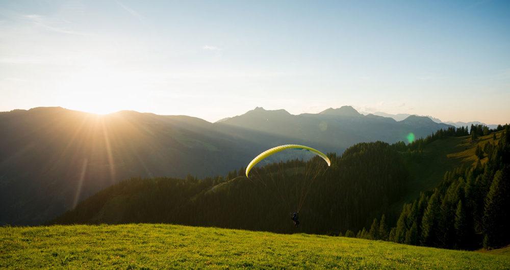Pfandlinghof Grossarl, Gleitschirmflug im Grossarltal, Sommerurlaub im Salzburger Land