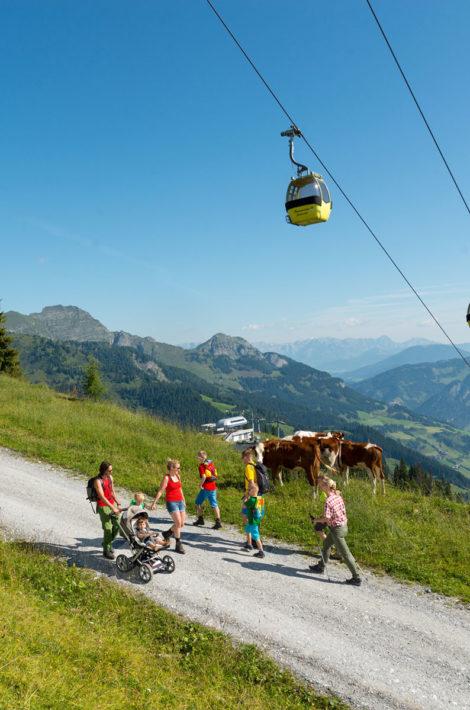 Pfandlinghof Grossarl, Wanderurlaub Salzburger Land, Kinderwagenweg Sommerseilbahn